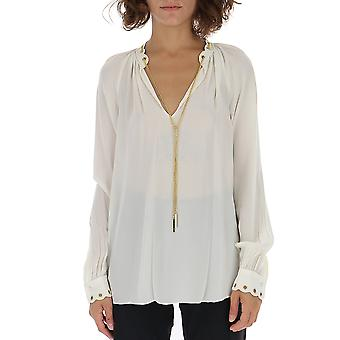 Michael Kors White Cotton Blouse