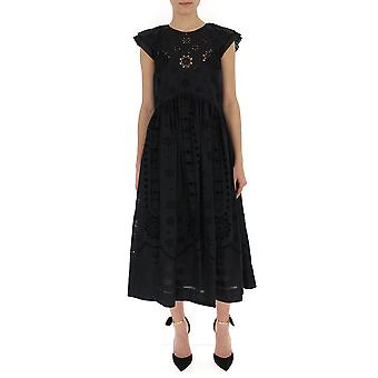 Red Valentino Black Cotton Dress