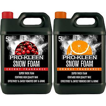 Pro-kleen 5 Litre Cherry Snow Foam With 5 Litre Orange Snow Foam
