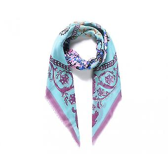 Intrigue Womens/Ladies Square Vintage Floral Digital Print Scarf