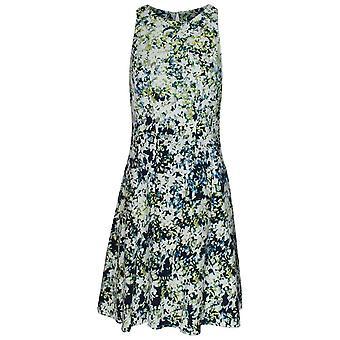 Maggy Londen bloemen print een lijn mouwloze zon jurk