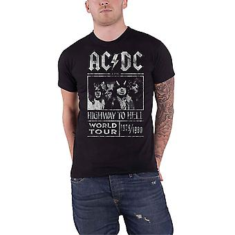 AC/DC T Shirt Highway to Hell World Tour 1979 1980 Official Mens New Black
