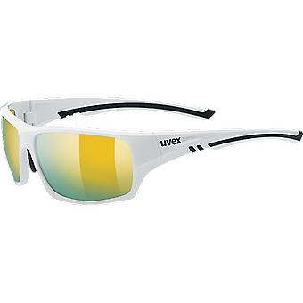 Uvex sportstyle 222 white Polavision mirror yellow