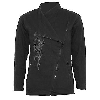 Spiraal directe Gothic gekleurd TRIBAL - inslag Zip vrouwen Biker Jacket Black| Tribal| Mode