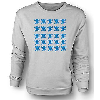 Mens Sweatshirt Skull & Cross Bones Pattern Design