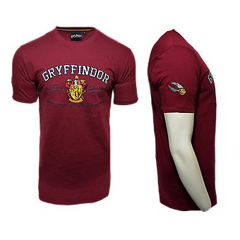 Licensed unisex applique embroidery gryffindor™ t shirt harry potter™