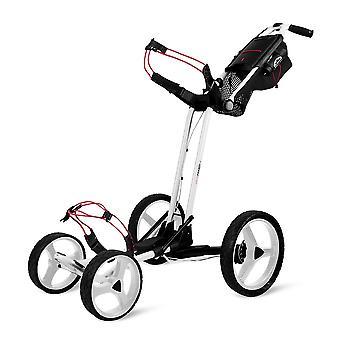 Sun Mountain Pathfinder 4 Wheel Push Cart Golf Trolley Weiß