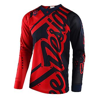 Troy Lee Designs Honey-Red 2018 SE AIR Shadow MX Jersey