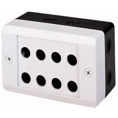 Enclosure 8 insTailletion slots (L x W x H) 153 x 100 x 75 mm gris-blanc (RAL 7035), noir (RAL 9005) Eaton M20-I8 1 pc(s)