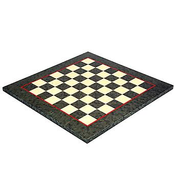 16.75 Inch Olive Green Erable and Elm Wood Luxury Chess Board