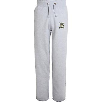 3rd Carabiniers - Licensed British Army Embroidered Open Hem Sweatpants / Jogging Bottoms