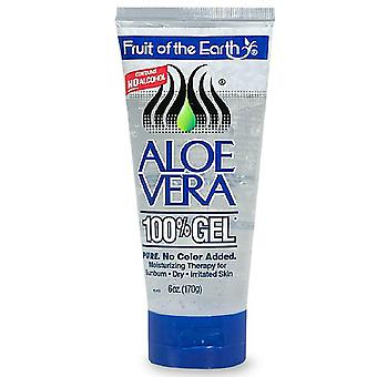 Fruit of the earth aloe vera 100% gel, crystal clear, 6 oz
