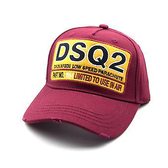 Dsquared2 DSQ2 Low Speed Fallschirm Cap Burgund
