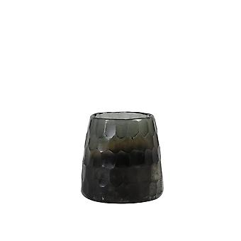 Light & Living Tealight Ø11X10 Cm Raul Shiny Grey-Half Black