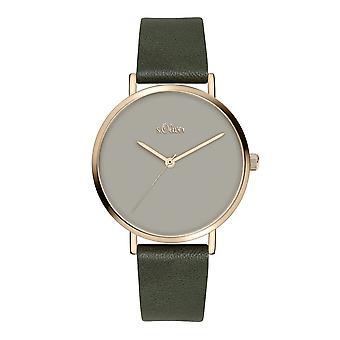 s.Oliver Damen Uhr Armbanduhr Leder SO-3910-LQ