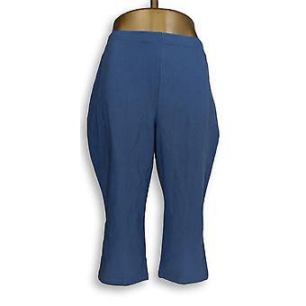 Women with Control Women's Petite Pants LP Tushy Lifter Capri Blue A354361