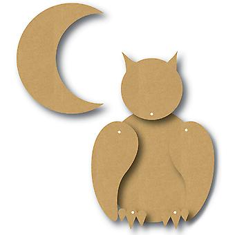 EyeConnect Chipboard Totem Poppet-Owl, 4