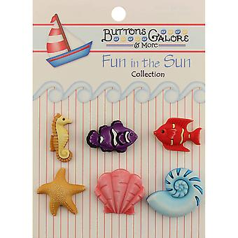 Fun In The Sun Buttons Ocean Wonders Fn 111