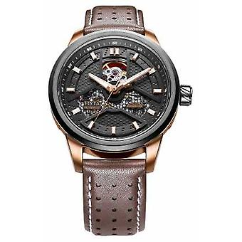 FIYTA Mens Brown Leather Strap Round Dial GA866002.MBR Watch