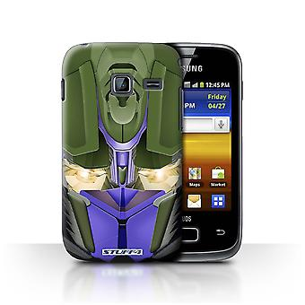 STUFF4 Case/Cover for Samsung Galaxy Y Duos/S6102/Opta-Bot Blue/Robots