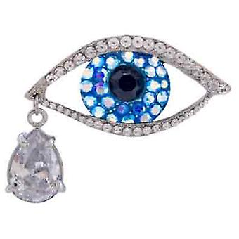 Butler and Wilson Big Brother Crystal Eye Brooch