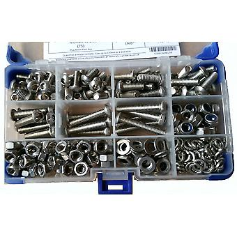 640Pc Socket Button Head Setscrews A2 Stainless Steel With Washers and Nuts M5 5MM