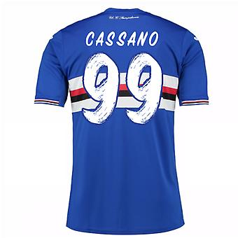2016-17 Sampdoria Home Shirt (Cassano 99)