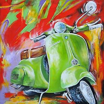 Vespa ik Poster Print by Pasquale Colle