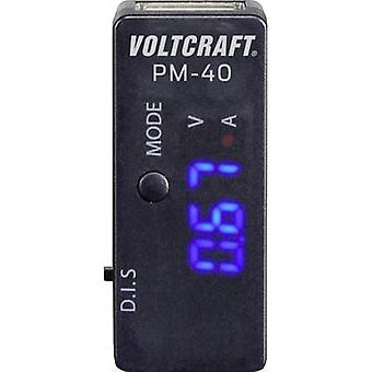 Handheld multimeter digital VOLTCRAFT PM-40 Calibrated to: Manufacturer standards CAT I Display (counts): 999