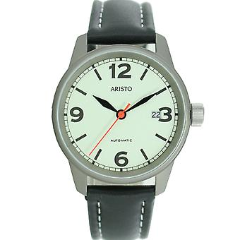 Aristo mäns watch automatisk 5H69Ti leather watch