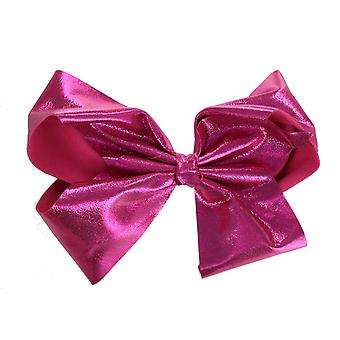 Girls Boutique Large Metallic Fashion Hair Bow Dance School Accessory