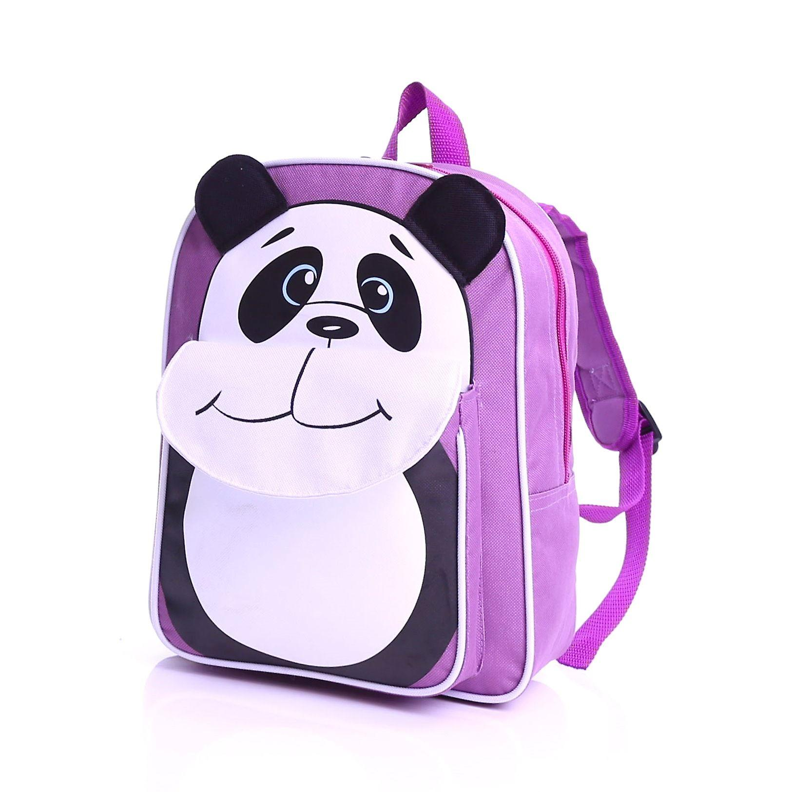 Karabar Wildlife Kids Panda Backpack, Purple