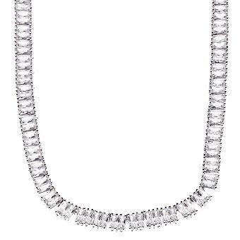Iced out bling BAGUETTE cubic ZIRCONIA necklace - 90cm