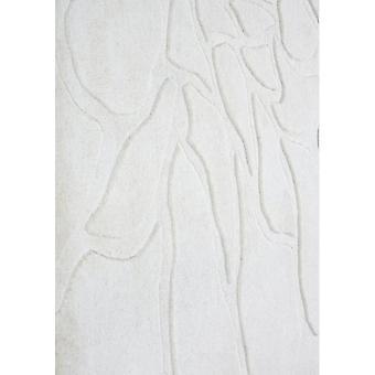Contemporary Cream Wool Rug - Flora