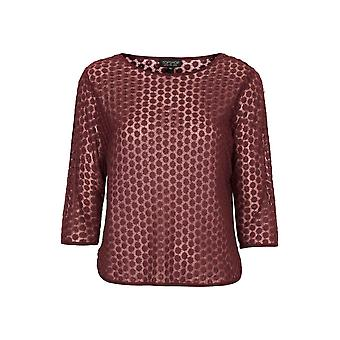 Topshop Daisy Embroidered Mesh Tee TP555-10