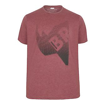 BadRhino Red T-Shirt With Puff Dotted Print
