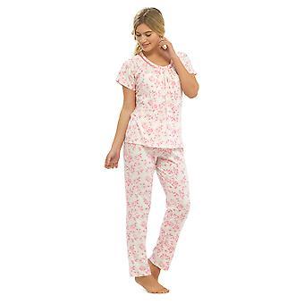 Damer Walter Grange Floral trykt trøje Polycotton pyjamas pyjamas nattøj