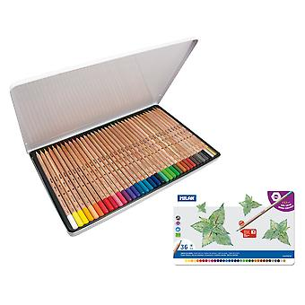 Milan Caja Metal 36 Lápices Colores  (Toys , School Zone , Drawing And Color)