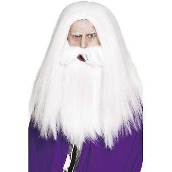 Wizard costume set wig u Bart medieval Merlin