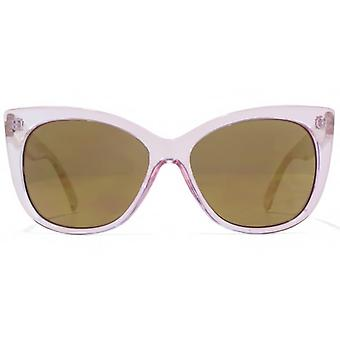 Miss KG Glam Plastic Sunglasses In Crystal Pink