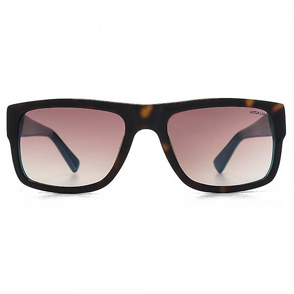 Hook LDN Blitz Sunglasses In Tortoiseshell On Turquoise