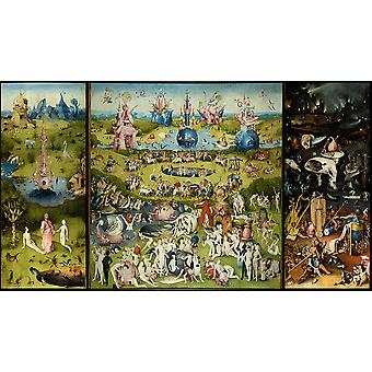 Hieronymus Bosch - The Garden of Earthly Delights Poster Print Giclee