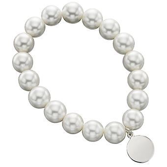 925 argento braccialetto con perla