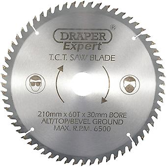 Draper 09478 Circular Mitre Saw Blade 210mmx30mmx60T Cross Cut Plywood Blade