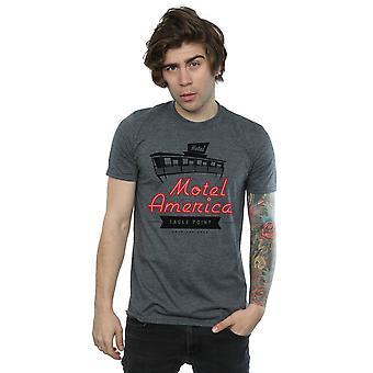 Amerikanske guder mænds Motel Amerika Neon T-Shirt
