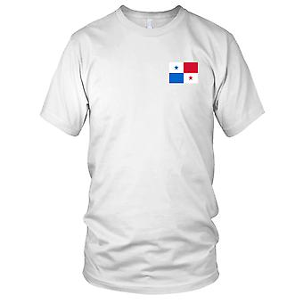 Panama Land Nationalflagge - Stickerei Logo - 100 % Baumwolle T-Shirt Damen T Shirt