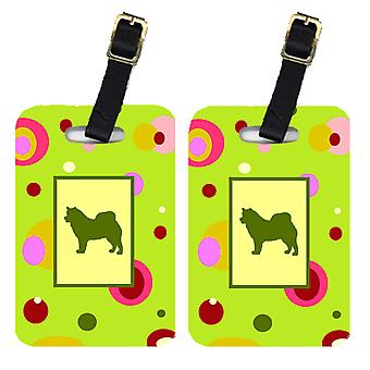 Carolines Treasures  CK1073BT Pair of 2 Alaskan Malamute Luggage Tags