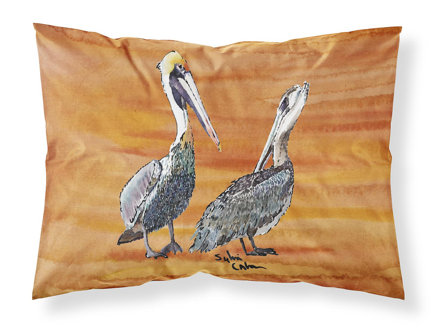 Carolines Treasures  8407PILLOWCASE Pelican Moisture wicking Fabric standard pil