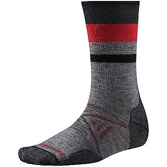 Smartwool PhD® Outdoor Medium Pattern Crew Sock - Medium Gray
