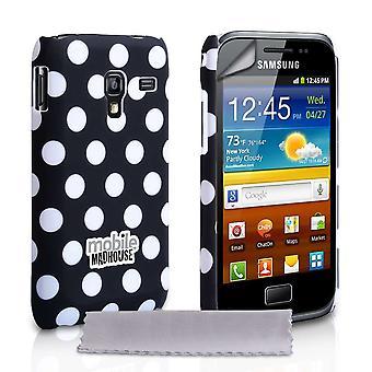 Yousave tilbehør Samsung Galaxy Ace Plus Polka Dot sag - sort